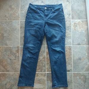 Bandolino Mandie jeans, dark wash, size 8S